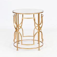 Lenora Gold Leaf Table  #WorldsAway