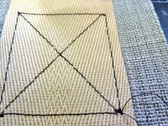 "How To Sew A Perfect ""X"" Box 