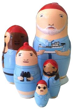 The Life Aquatic Nesting Dolls $116
