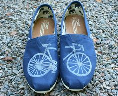 Bike Custom TOMS Shoes by themattbutler on Etsy, $75.00