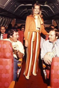 Southwest Airlines 1974 uniform...This is the year I graduated.  How about those striped pants?  Orange, too!