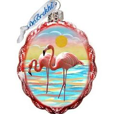 You'll love the Keepsake Flamingo At Sun Set Coastal Glass Ornament at Wayfair - Great Deals on all Décor & Pillows products with Free Shipping on most stuff, even the big stuff.