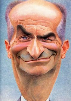 caricature of Louis DeFunes , an illustration of Jean Mulatier Cartoon Faces, Funny Faces, Cartoon Art, Caricature Artist, Caricature Drawing, Funny Caricatures, Celebrity Caricatures, Famous Cartoons, Funny Cartoons