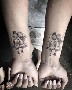 66 Trendy ideas tattoo for women small wrist daughters - Tattoos - Tatouage Cute Tattoos On Wrist, Bff Tattoos, Wrist Tattoos For Women, Friend Tattoos, Tattoo Designs For Women, Tattoos For Women Small, Body Art Tattoos, Hand Tattoos, Small Tattoos