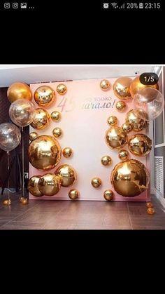 Party ideas - New Deko Sites 50th Birthday Party, Birthday Balloons, Birthday Party Decorations, Party Themes, Wedding Decorations, Ideas Party, Balloon Backdrop, Balloon Wall, Balloon Garland