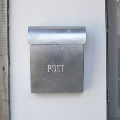 Metal PostBox  Clean, sleek and stylish, our metal post box would make a handsome addition to your home. It's generously sized, easy to use and weather-proof. Simply hang on a hook, lift the lid to pop letters inside or to retrieve your mail.
