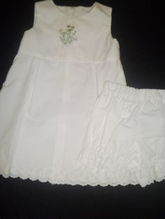 Size 3T Sleeveless White Dress with Matching by anncraftcorner, $27.00