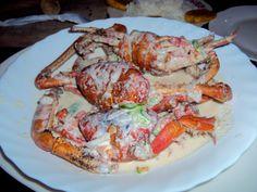 Traditional Ecuadorian Dish: Cangrejo Encocado  (Coconut Crab)