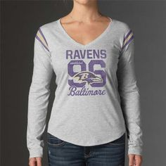 Men's Baltimore Ravens Majestic Purple Primary Receiver Long Sleeve T-Shirt
