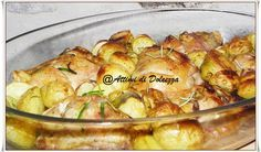 CHICKEN THIGHS WITH POTATOES - SOVRACOSCE DI POLLO AL FORNO CON PATATE | Attimi di Dolcezza