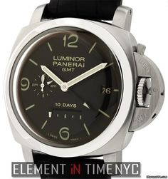 Panerai Luminor Collection Luminor 1950 10 Days Power Reserve GMT J Series Reference #: PAM 270