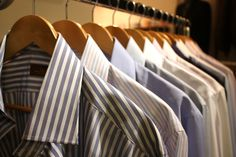 A good view when you open up your wardrobe in the morning. Fresh shirts for every occasion possible. A man has his gems.