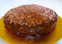 Seriously rich dark chocolate cake iced with ganache Dark Chocolate Cakes, Sweet Stuff, Pudding, Desserts, Food, Tailgate Desserts, Deserts, Custard Pudding, Essen