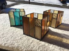 A personal favorite from my Etsy shop https://www.etsy.com/listing/222928868/stained-glass-candle-holder-made-to