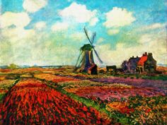 Claude Monet   Fields of Tulip With The Rijnsburg Windmill, 1886, oil on canvas, 65.6 x 81.5cm