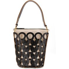 Marni woven pattern tote bag ($1,910) ❤ liked on Polyvore featuring bags, handbags, tote bags, black, tote bag purse, woven purse, zip top tote bags, print tote and pattern tote