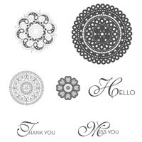 Lacy & Lovely Clear-Mount Stamp Set - Stampin' Up!