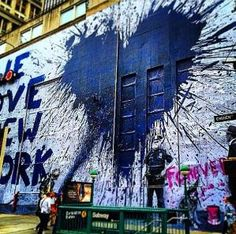 Mr. Brainwash - We love New York - NYC, NY, USA - September, 2014