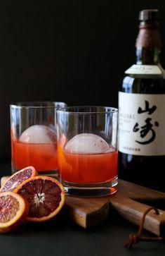 blood orange whiskey negroni.