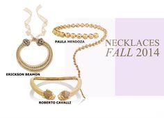 Fashion Women Fall 2014 #fall #2014 #women #fashion #accessories #necklace #paula #mendoza #erickson #beamon #roberto #cavalli