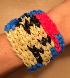 Rainbow Loom -  Super MARIO Bracelet - Latex Free - made with Genuine Rainbow Loom Bands on Etsy, $9.00