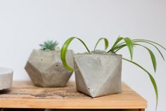 There's nothing easier than making concrete planters for succulents and cactus. Don't believe me? Try it out yourself! You will be amazed how quick you have your own sweet planters.