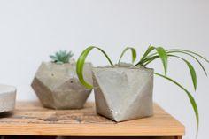 DIY geometrical planters