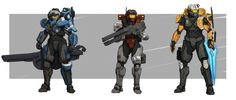 Can we just talk about Spartan Group Omega's concept armor from the latest Community Update for a minute? Halo Spartan Armor, Halo Armor, Halo Game, Halo 5, Fantasy Concept Art, Sci Fi Fantasy, Wolf Pack, Odst Halo, Combat Armor