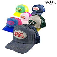 Men's or Women's Von Dutch Trucker-Style Baseball Caps Von Dutch, Cold Gear, Love Hat, Baseball Caps, Mens Caps, Summer Sun, My Childhood, Caps Hats, Headbands