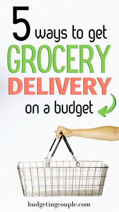 5 Budget-Friendly Ways to Have Your Groceries Delivered Saving Money Quotes, Best Money Saving Tips, Budgeting Finances, Budgeting Tips, Grocery Delivery Service, Paying Off Credit Cards, Making A Budget, Save Money On Groceries, Frugal Tips