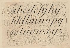 """Alphabet with flourish  """"L'art d'écrire"""" 1800 by Bédigis"""