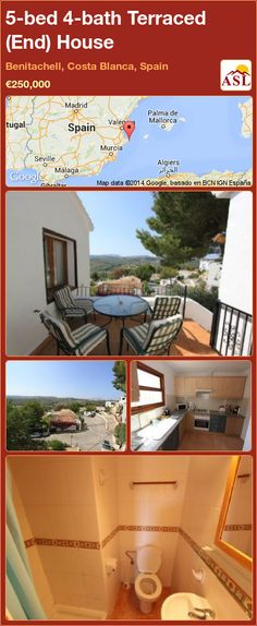 Terraced (End) House for Sale in Benitachell, Costa Blanca, Spain with 5 bedrooms, 4 bathrooms - A Spanish Life Independent Kitchen, Juliet Balcony, Double Bedroom, Patio Doors, Malaga, French Doors, Townhouse, Terrace, Entrance