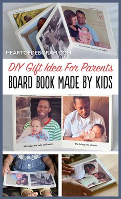 Looking for a unique DIY gift idea for mommy or daddy? Create this personalized board book as a DIY gift from kids! Perfect for Mother's Day or Father's Day. You can also make it for grandparents to read with their grandkids!