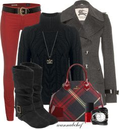 """Pops of Red"" by wannabchef on Polyvore"