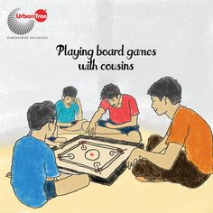 Annual holidays comes during summer. So most would play a lot of boards games during the day. Carrom board, Ludo, Snake and Ladder, Business and cards used to be our favorite indoor games. And some intellectual friends and cousins of ours would play Chess ;)