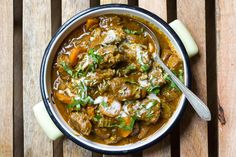 Tuck into a spoonful of coconut lamb curry! This flavorful recipe from Eat Drink Paleo is sure to staunch your meat fix for the week. Creamy coconut milk and savory lamb in a spicy garam masala curry should be on your dinner table tonight! Curry Recipes, Paleo Recipes, Slow Cooker Recipes, Indian Food Recipes, Cooking Recipes, Batch Cooking, Cooking Time, Paleo Stew, Paleo Curry