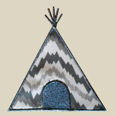 Native3 - Teepee Applique Machine Embroidery Design