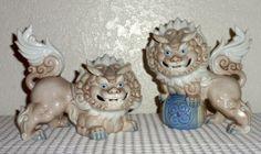 JAPANESE SHISHI | ... Signed Yoshimi K Japanese Shishi Dragons Fu Dogs Foo Lions | eBay