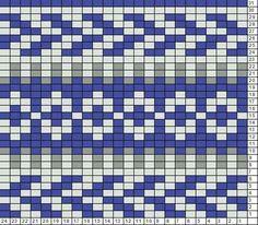 Un autre motif que je dois essayer / Blue hat fair isle motif I need to try Fair Isle Knitting Patterns, Fair Isle Pattern, Knitting Charts, Knitting Stitches, Pixel Crochet, Crochet Chart, Knitted Christmas Stockings, Christmas Knitting, Mochila Crochet
