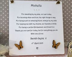 Daughter Wedding Day Gift Plaque Personalised By AandFCrafts