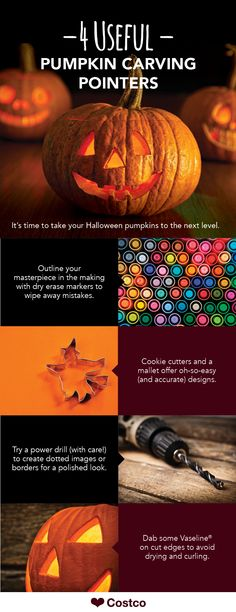 Pumpkin carving can be an art if you're feeling extra crafty. Looking to improve your own technique? Here are four useful pumpkin carving pointers you can start with.