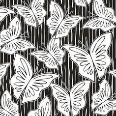 Butterflies | Dialogues in Black & White  Studies for the class Processes of Creation Prints, Post-Degree Print & Pattern Design SENAI-CETIQT.  © wagner campelo