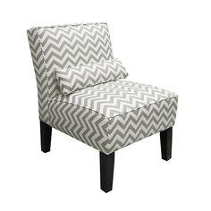 Zig ZagArmless Chair - Ash and White