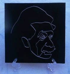 Albert - Wire Painting, Art Sculpture, Unique Gift by WirePainting on Etsy