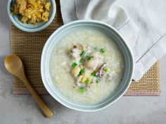 Conpoy and Chicken Congee