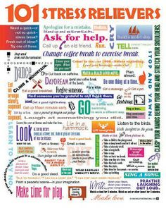 101 stress relievers Coping Skills, Stress And Anxiety, Mental Health,  Health Guru,
