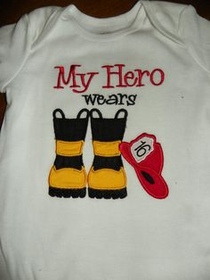 Fireman HAT & BOOTS Fire Hero - INSTANT Download Machine Embroidery Design by Carrie on Etsy, $3.99