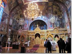 Photos inside the Holy Virgin Russian Orthodox Cathedral San Francisco