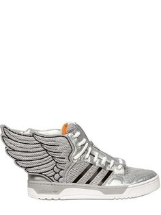 the latest e6f9c 29160 ADIDAS BY JEREMY SCOTT - MESH   LEATHER WINGS SNEAKERS