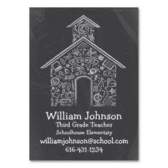 Schoolhouse Teachers Business Card